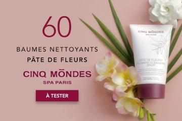60 Baumes Nettoyants Pâte de Fleurs de Cinq Mondes à tester
