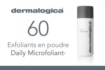 60 Exfoliants en poudre Daily Microfoliant® de Dermalogica à tester