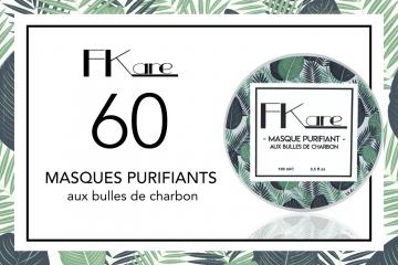 60 Masques Purifiants aux bulles de charbon de Fkare à tester