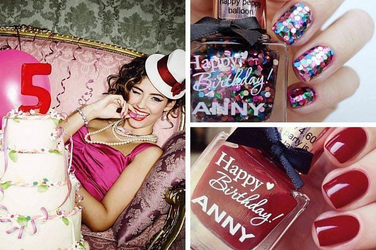La marque de vernis ANNY fête ses 5 ans