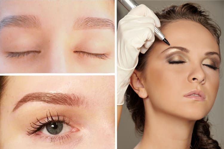 le maquillage semi-permanent des sourcils