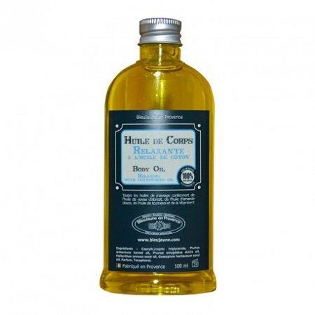 Huile de Corps Relaxante à l'huile de coton, BleuJaune en Provence - Infos et avis
