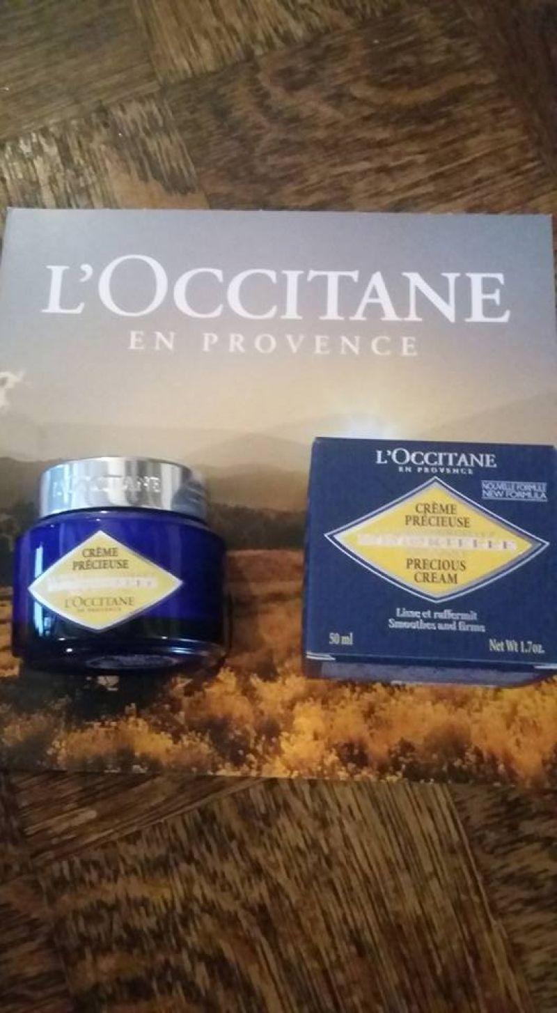 Swatch Crème Précieuse Immortelle, L'Occitane