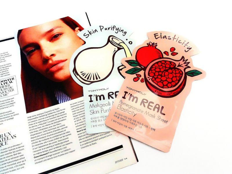 Swatch I Am Real Mask Sheet - Masque, Tonymoly
