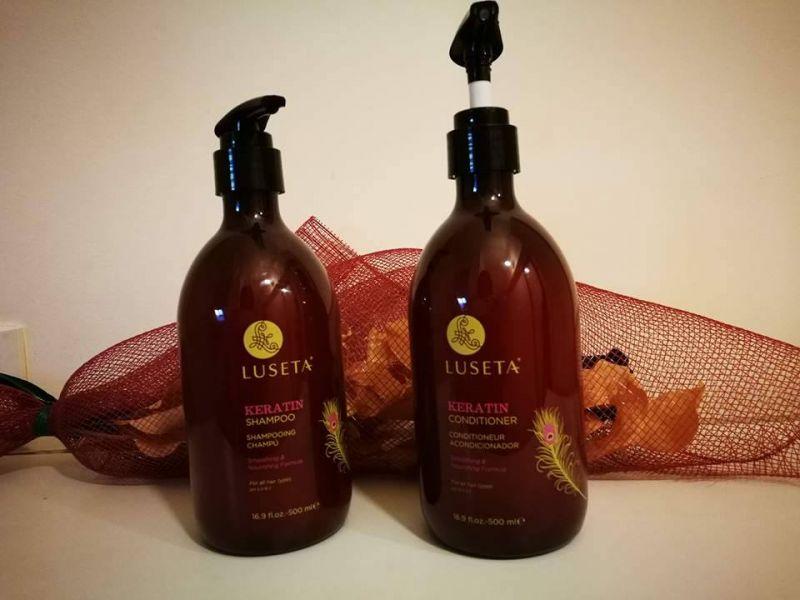Swatch Shampoing keratin, Luseta