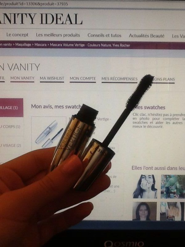 Swatch Mascara Volume Vertige - Couleurs Nature, Yves Rocher