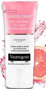 Soin Hydratant Non Gras Pamplemousse Rose - Visibly Clear, Neutrogena - Infos et avis
