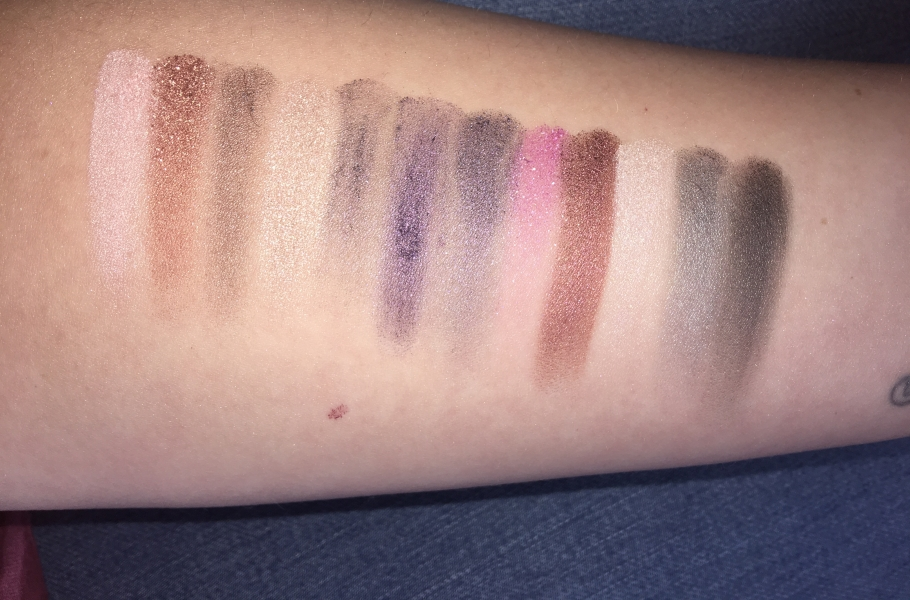Swatch In the Night Palette, W7 Cosmetics