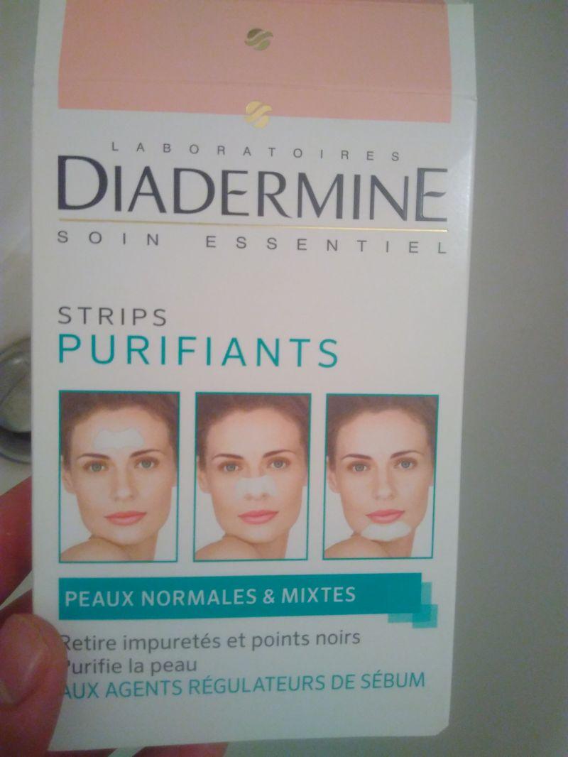Swatch Strips Purifiants, Diadermine