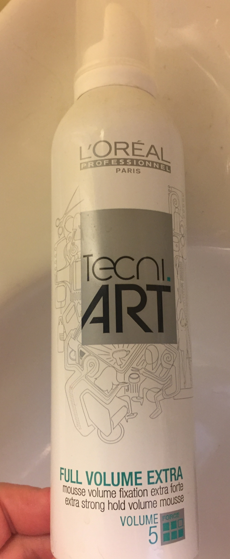 Swatch Tecni Art Full Volume Extra Mousse 400ml, L'Oréal Professionnel