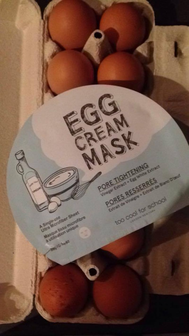 Swatch Egg Cream Mask, Too Cool for School