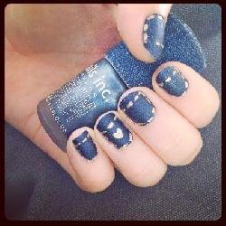 Swatch Denim Effect Polish Vernis à Effet Jean, nails inc.