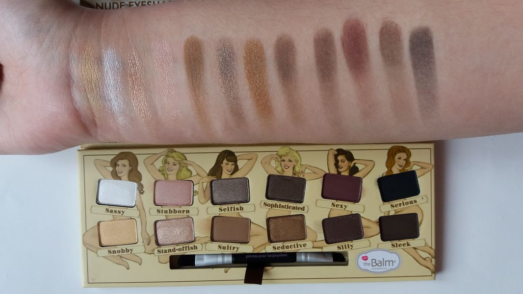 Swatch Palette Nude'tude, theBalm