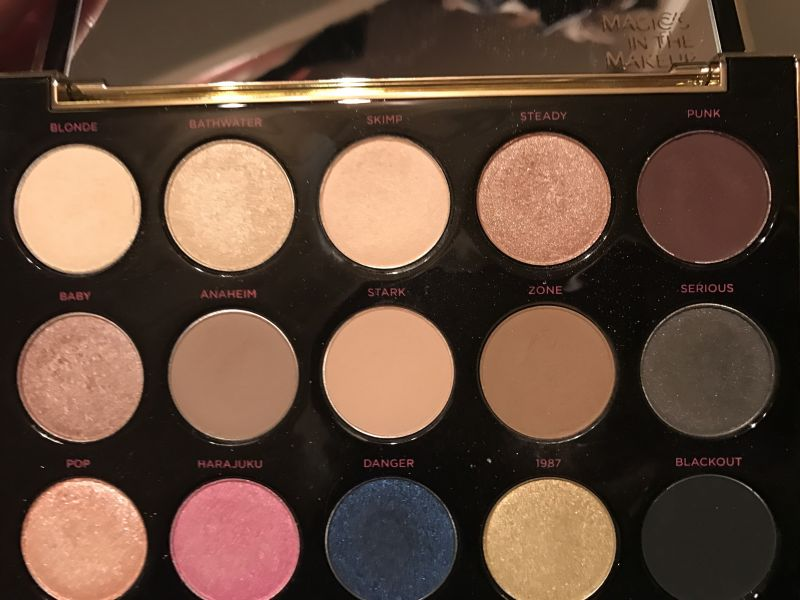 Swatch Gwen Stefani Eyeshadow Palette, Urban Decay