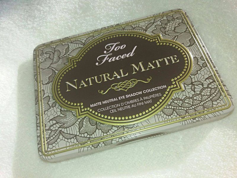 Swatch Natural Matte - Palette de fards à paupières, Too Faced