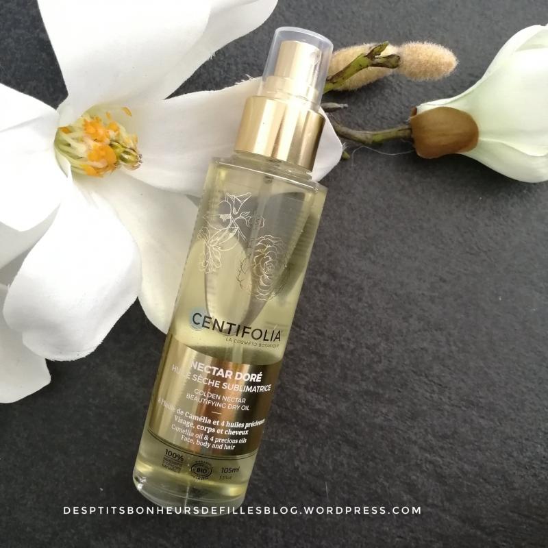 Swatch Huile sèche sublimatrice Nectar doré, Centifolia