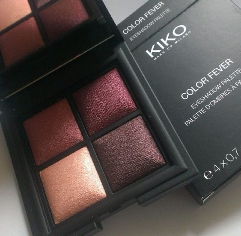 Swatch Color Fever Eyeshadow palette, Kiko