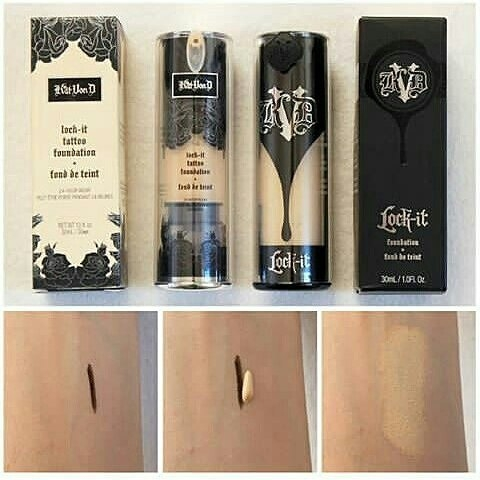 Swatch Lock-it Foundation - Fond de teint liquide, Kat Von D