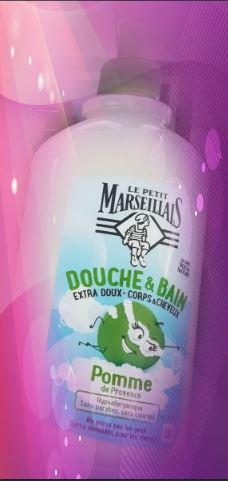 Swatch Douche & Bain Extra Doux Corps & Cheveux Pommes, Le Petit Marseillais
