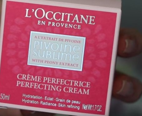 Swatch Crème Perfectrice Pivoine, L'Occitane