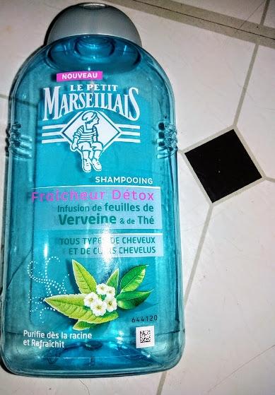 Swatch Fraîcheur detox Shampoing Infusé feuilles verveine et thé, Le Petit Marseillais