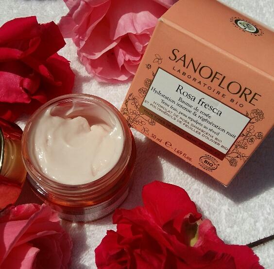 Swatch Baume de rosée ré-hydratant 48h et régénérant nuit Rosa Angelica, Sanoflore