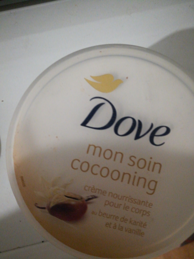 Swatch Crème Mon Soin Cocooning, Dove