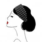 Bandeau BB pois noir - Romy, Scrunchie is back - Accessoires - Accessoires pour la coiffure