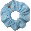 Chouchou bordé bleu, Scrunchie is back - Accessoires - Accessoires pour la coiffure