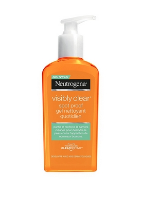 Swatch Spot proof gel nettoyant quotidient, Neutrogena