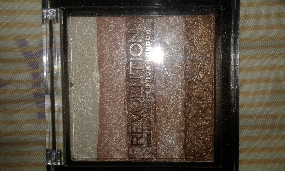 Swatch Shimmer bricks, Makeup Revolution