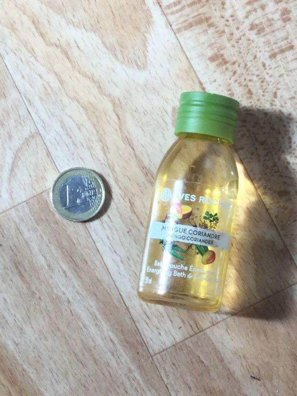 Swatch Bain Douche Energisant - Mangue Coriandre de Yves Rocher, Yves Rocher
