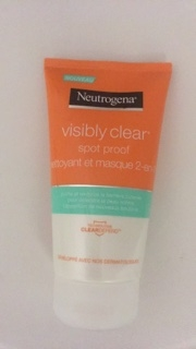 Swatch Visibly clear spot proof nettoyant et masque 2 -en- 1, Neutrogena