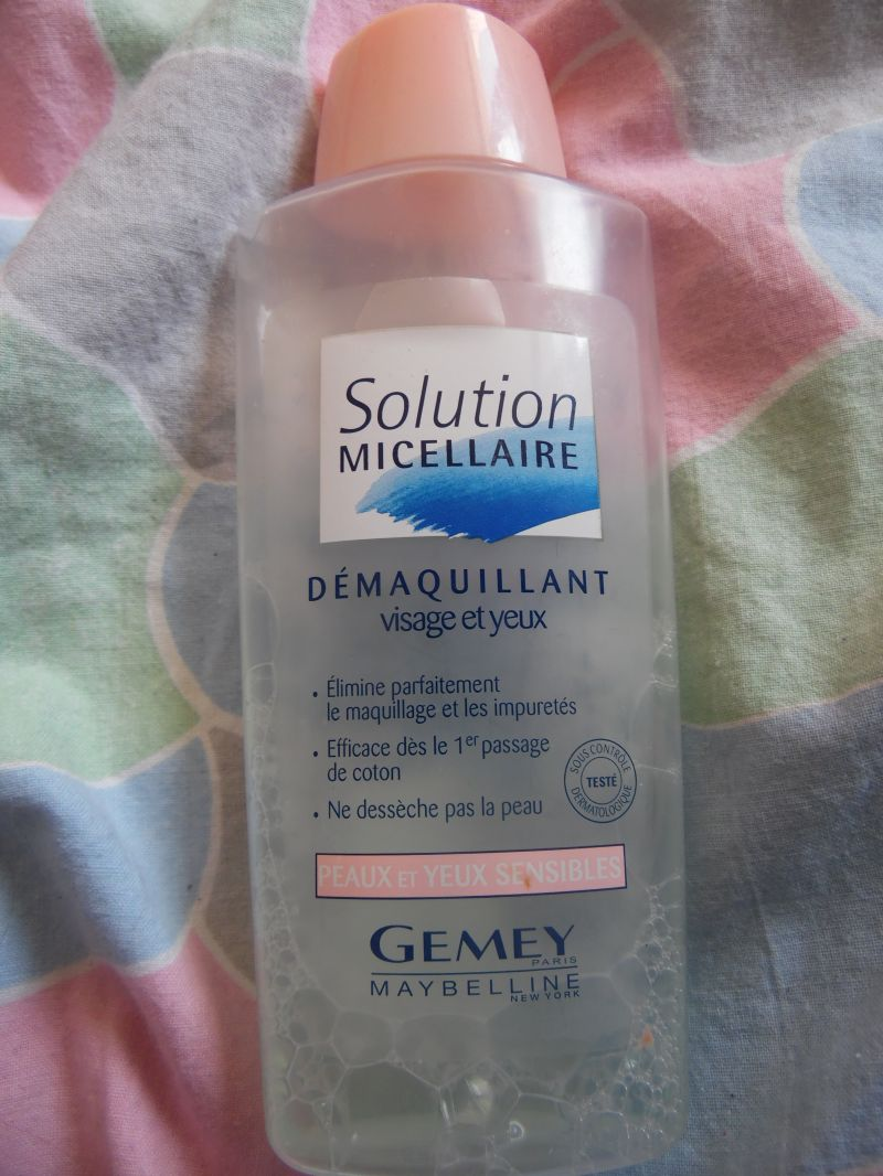 Swatch Solution Micellaire, Gemey-Maybelline