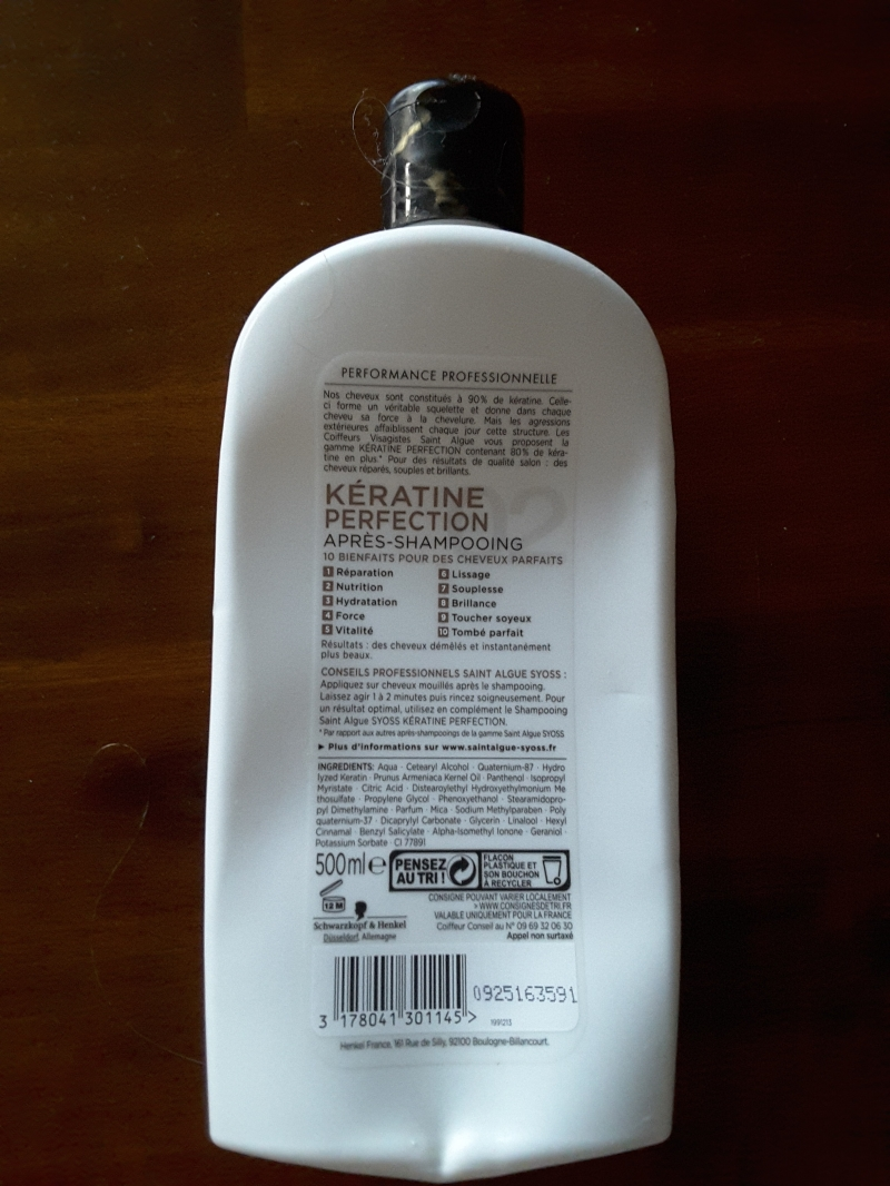 Swatch Kératine perfection après-shampoing, Syoss