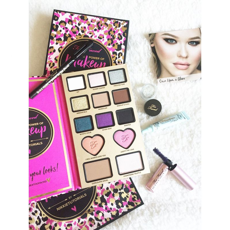 Swatch The Power of Makeup By Nikkie Tutorials Coffret de maquillage, Too Faced