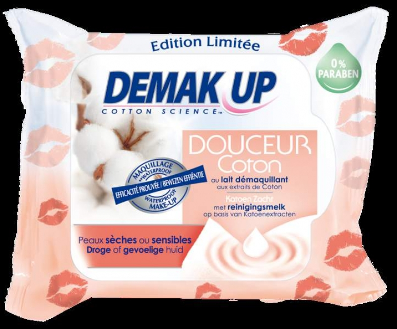 Swatch Lingettes Douceur Cocoon Peaux Seches à Sensibles, Demak'Up