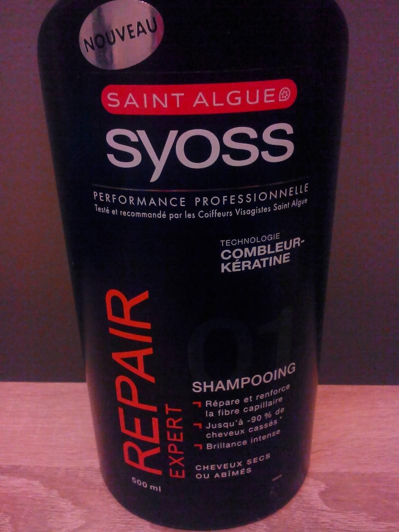 Swatch Shampooing Repair expert, Saint Algue Syoss