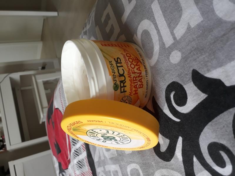 Swatch Masque Hair Food Banane, Garnier Fructis