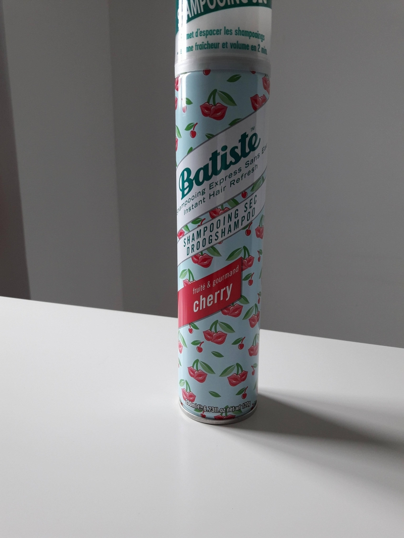 Swatch Shampoing Sec Cherry, Batiste