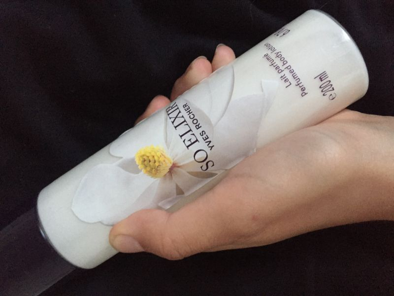 Swatch Lait Parfumé So Élixir, Yves Rocher