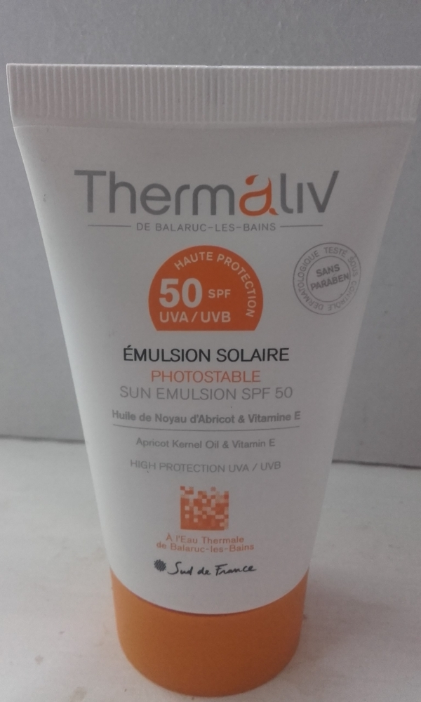 Swatch Emulsion Solaire SPF50, Thermaliv