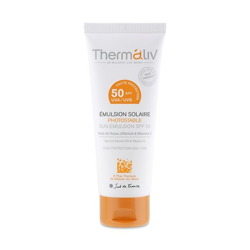 Emulsion Solaire SPF50, Thermaliv : anaissaracino aime !