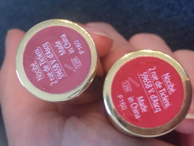 Swatch Rouge à lèvres, Nocibé