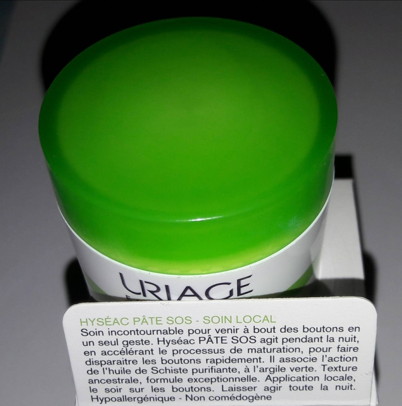 Swatch Pâte SOS Soin Local Hyséac, Uriage