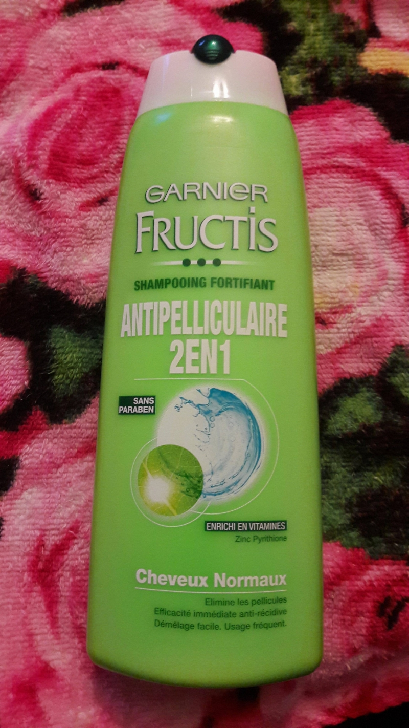 Swatch Fructis Antipelliculaire Shampooing Fortifiant 2 en 1, Garnier