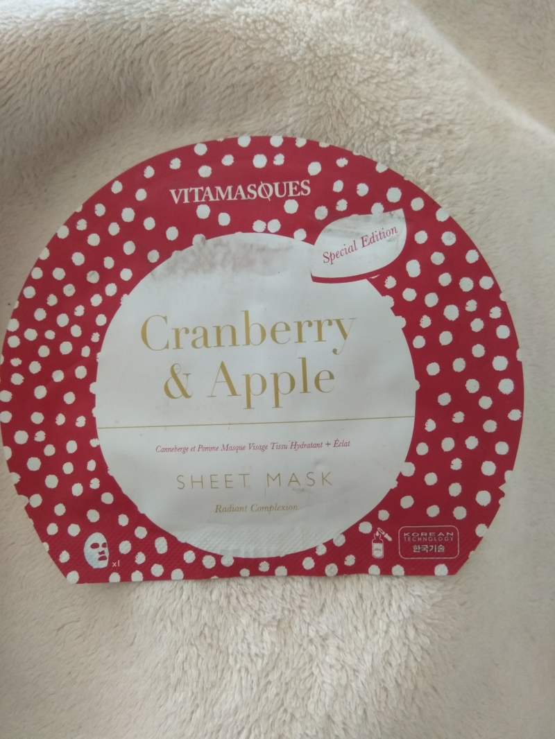 Swatch Cranberry & apple sheet mask, Vitamasques