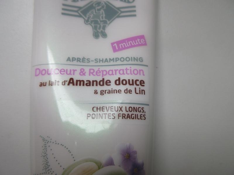 Swatch Après Shampoing / Douceur et réparation au lait d'amande douce & graine de lin, Le Petit Marseillais