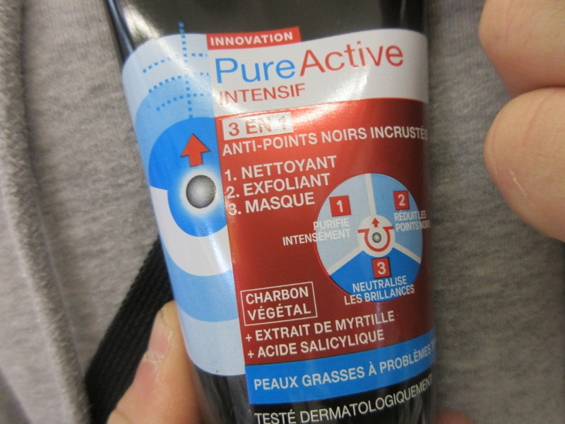 Swatch Pure active intensif, Garnier SkinActive