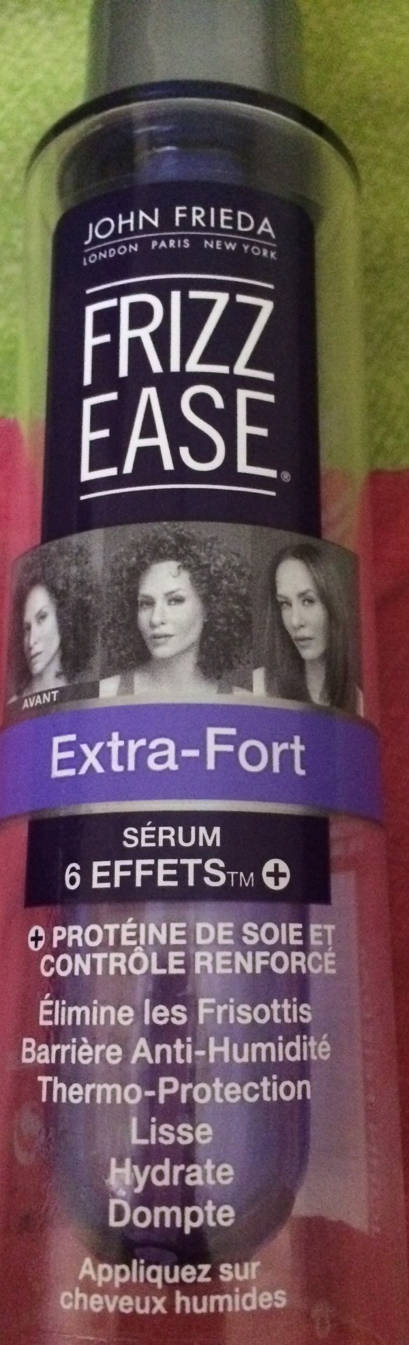 Swatch Sérum 6 effets frizz ease, John Frieda